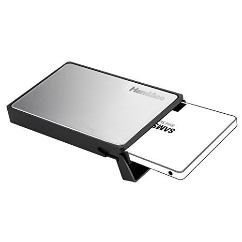 New HandAcc 2.5 Inch USB 3.0 Hard Drive External Enclosure Case For 9.5mm & 7mm 2.5 SATA HDD and SS...