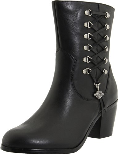 Harley-Davidson Women's Alanis Motorcyle Boot,Black,8