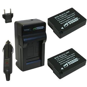 Wasabi Power Battery (2-Pack) and Charger for Panasonic DMW-BLD10, DMW-BLD10E, DMW-BLD10PP, DE-A93B and Panasonic Lumix DMC-G3, DMC-GF2, DMC-GX1