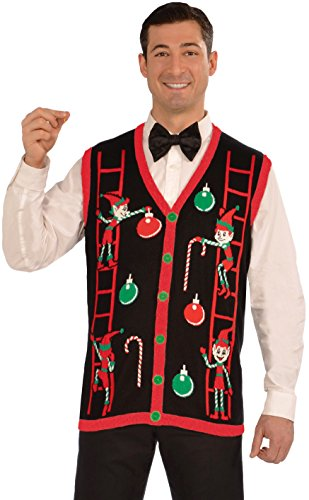 Forum Novelties Men's Decorating Elves Christmas Vest