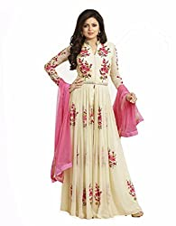 HansCreation Bollywood style Designer Embroidered Semi Stitched Dress Material