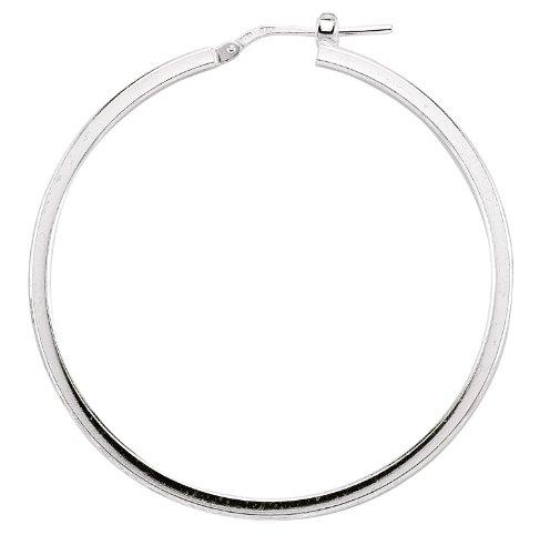 Mbody: Sterling Silver, Hoop Earring, Anti-Tarnish Finish. Lightweight Hollow Fashion Earring.