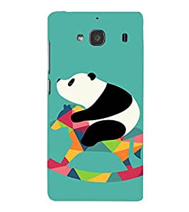 PrintVisa Cute Panda Animal Playing 3D Hard Polycarbonate Designer Back Case Cover for Xiaomi Redmi 2S