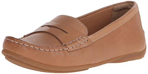 Clarks Women's Doraville Nest Slip-On Loafer, Tan Leather, 7 M US