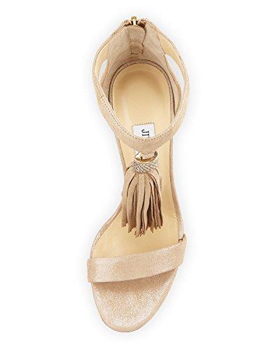 Jimmy Choo Viola Nude Tassel Shoes 38