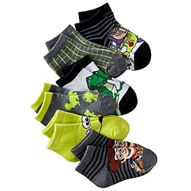 Disney Toy Story Toddler Boy's 1/4 crew Socks 6 Pair-6 Designs Size: 2T-4T