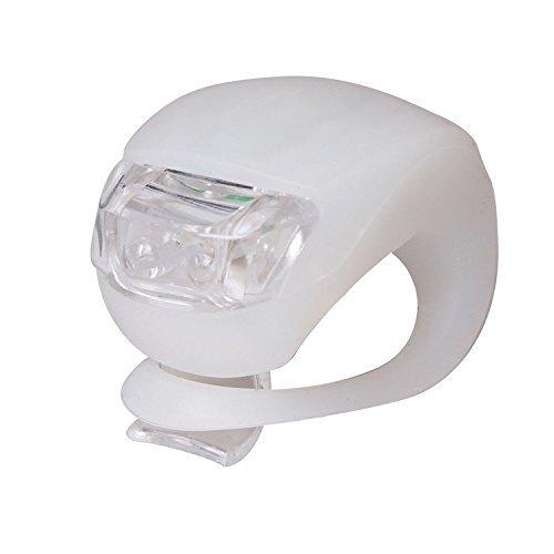 NEW Bright 2LED in silicone bici notturne posteriore e anteriore Light Set Kit da GN imprese, White
