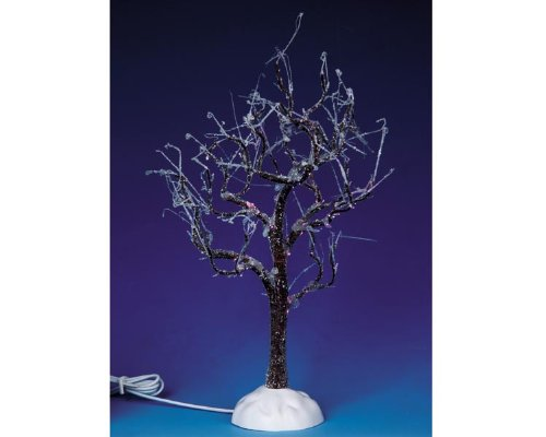 Lemax Village Collection Lighted Ice Glazed Tree, Blue # 94999