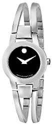 "Movado Women's 604759 ""Amorosa"" Stainless Steel Bangle Bracelet Watch"