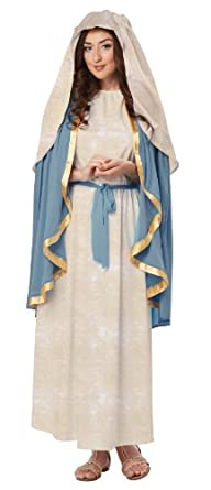 California Costumes Women's The Virgin Mary Adult, Blue/Cream, Small