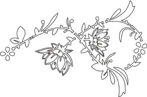 Imagen 1 de Etiqueta de la pared f79 arbusto de la flor hermosa 120x80 cm
