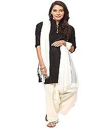 Castle Women's Salwar With Dupatta (Off White_Free Size)