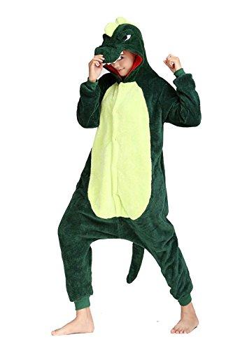 [XMiniLife Green Dinosaur Adult Costume Onesie /S] (Spyro The Dragon Halloween Costume)