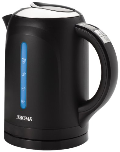 Aroma AWK-290BD 6-Cup Digital Electric Water Kettle, Black
