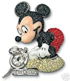 Swarovski Crystal Disney Mickey Mouse Brooch Pin ~ It All Started WIth A Mouse