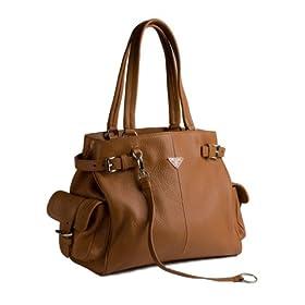 Prada Camel Leather BR2958 Tote Handbag