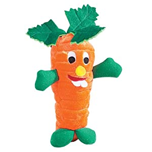 Zanies Polyester Giggling Veggies Dog Toy, 9-Inch, Carrot