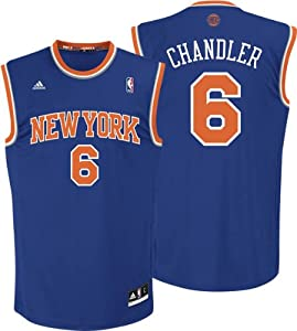 Adidas New York Knicks Tyson Chandler Revolution 30 Replica Road Jersey by adidas