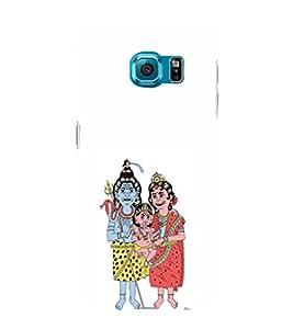 EPICCASE lord shiva family Mobile Back Case Cover For Samsung Galaxy S6 Edge (Designer Case)