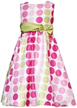 Rare Editions Little Girls39 FucshaPinkLime Dot Dress