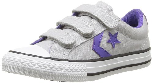 CONVERSE Unisex-Child Star Player Ev3 Trainers 363950-31-12 Gris/Violet 10.5 UK, 28 EU