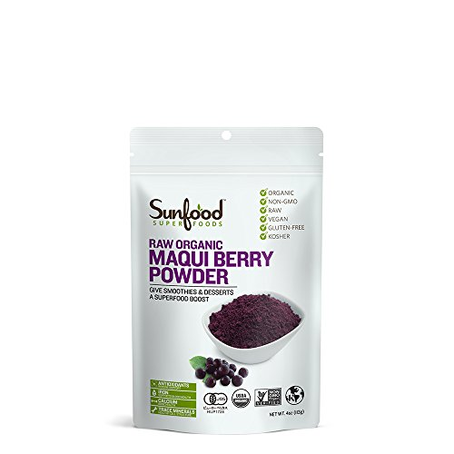 Sunfood Maqui Berry Powder, Certified Organic, Non-GMO Verified, Vegan, Raw, 4oz
