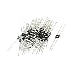 60Pcs IN4937 1000V 1A High Voltage Polarized Fast Rectifier Diodes