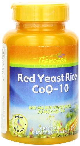 Thompson Red Yeast Rice Coq-10, Veg Capsules, 60-Count