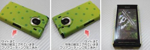 [docomo REGZA Phone T-01C専用]特殊印刷ハードカバー クリアコーティング仕上げ[736ドットグラデーション2(グリーン)]