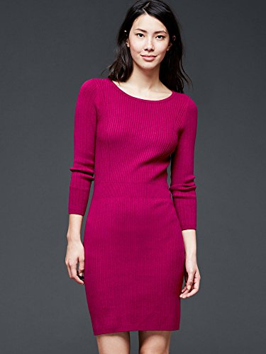 Gap Women Ribbed Waist Long Sleeve Dress XS