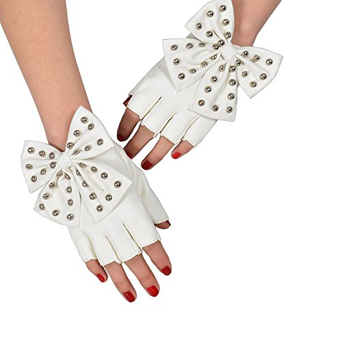 Sexy  (White Lace Fingerless Gloves)