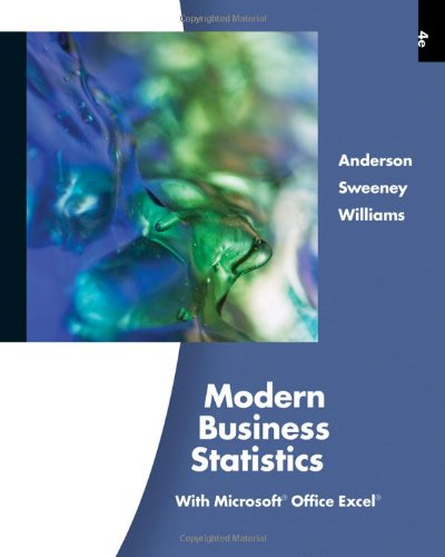 Modern Business Statistics with Microsoft Office Excel,...