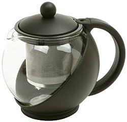 Norpro Eclipse 3-Cup Teapot, Black