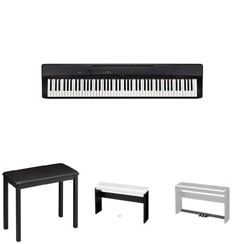 casio privia px160bk 88 key full size digital piano bundle with casio cs 67p keyboard stand. Black Bedroom Furniture Sets. Home Design Ideas