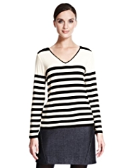 Autograph Contrast Striped T-Shirt