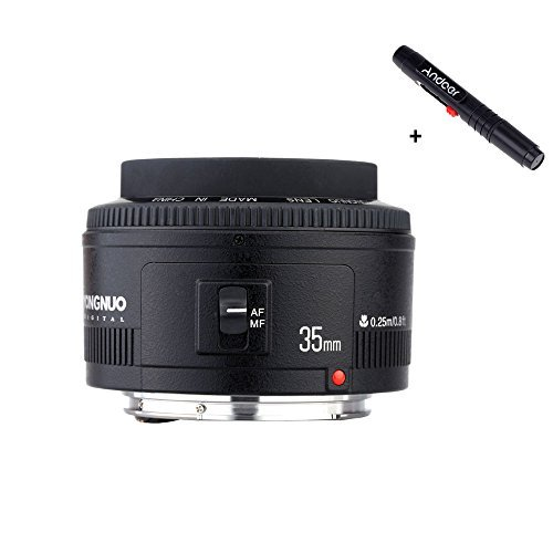 Yongnuo YN35mm F2 objectif 1:2 AF / MF grand angle fixe/Prime Auto Focus objectif pour Canon EF Mount EOS appareil photo