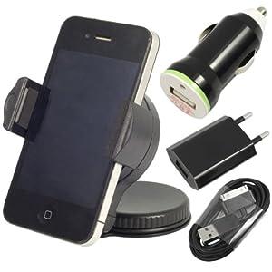 4en1 Chargeur + chargeur universel voiture + câble de données pour iPhone 3GS 4 4G 4S BC93