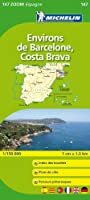Carte ZOOM Environs de Barcelone, Costa Brava