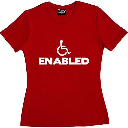 enabled-red-womens-t-shirt-size-12-l-white-print