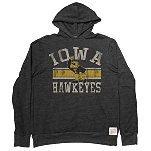 Iowa Hawkeyes Adult Vintage Tribar Hooded Sweatshirt by Retro