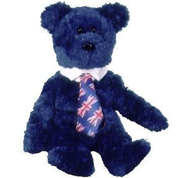 Ty Beanie Babies - Pops the Bear (UK Tie)