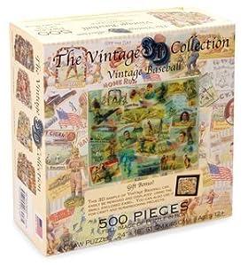 Vintage Baseball Jigsaw Puzzle 500 Piece Lenticular