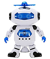 Intra kids White & Blue 360 degrees Naughty Digital Dancing Robot