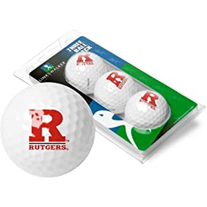 Rutgers Scarlet Knights Top Flite XL Golf Balls 3 Ball Sleeve (Set of 3) by LinksWalker