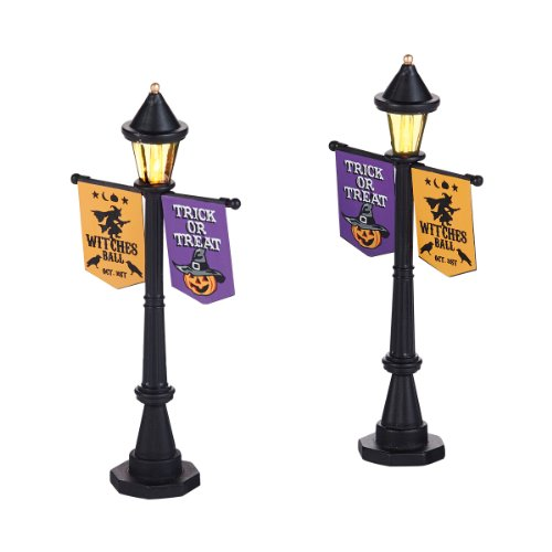 Department 56 Halloween Accessories Village Halloween Festival St Lamps Lights, 0.91-Inch