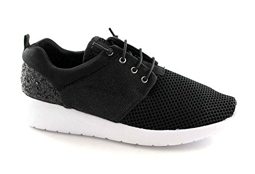 GRUNLAND GIO' ERRE SC2405 nero scarpe donna memory laccio elasticizzato 37