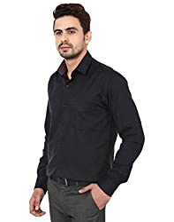 PSK Regular Full Sleeve Men's Formal Shirt Black