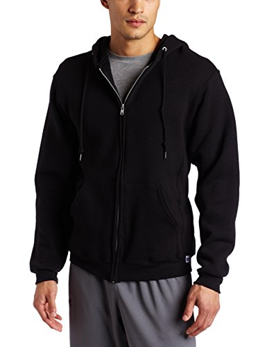 Russell Athletic Men's Dri Power Hooded Zip-up Fleece Sweatshirt, Black, Large