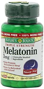 Nature's Bounty Melatonin, 3 mg, 240 Tablets