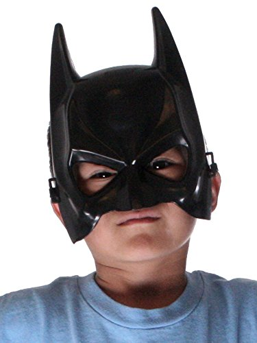 Simplicity The Dark Knight Costume Half Kid's Black Batman Mask